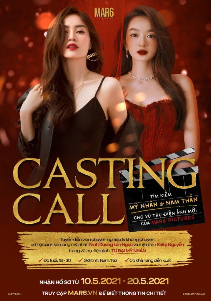 Poster casting call Tứ Đại Mỹ Nhân 2021