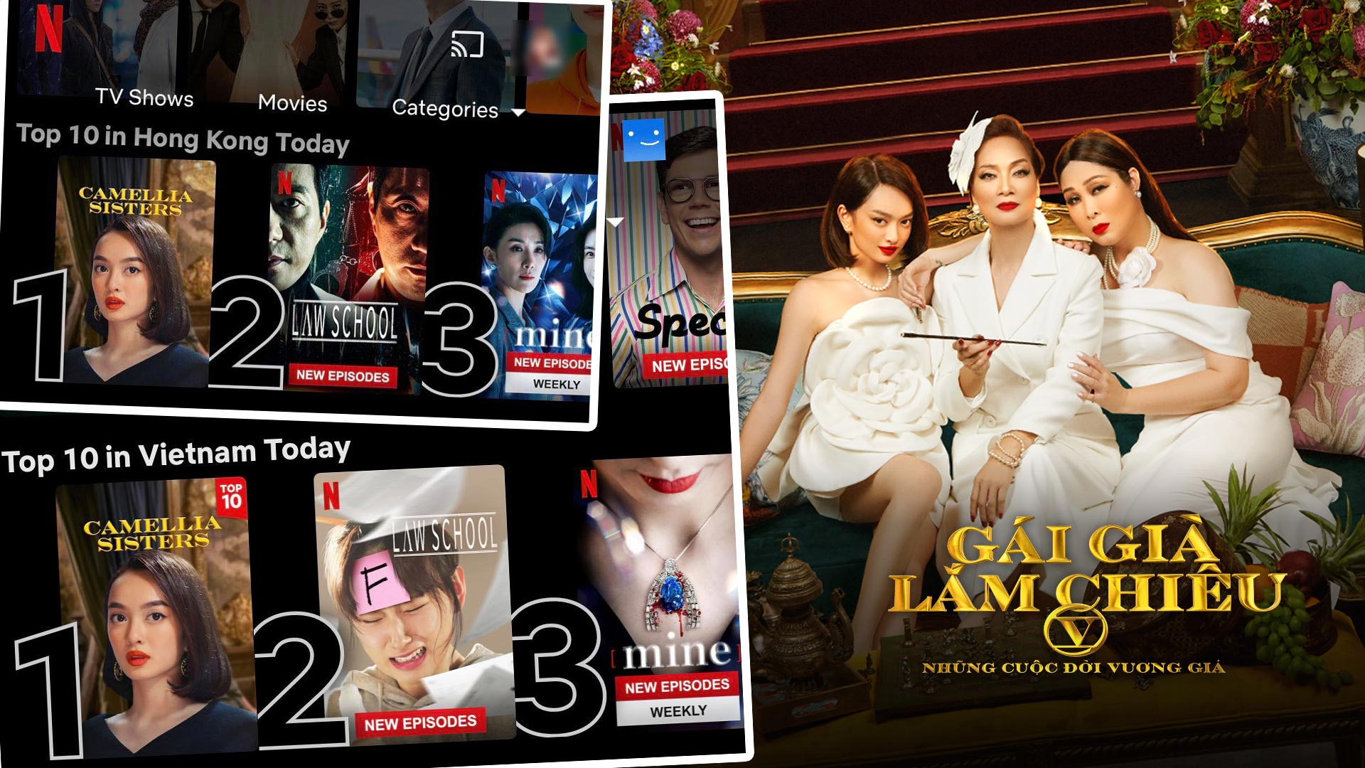 Gái già lắm chiêu V vẫn lọt top 3 Netflix Việt Nam sau tuần đầu góp mặt